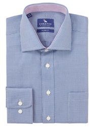 Chester By Chester Barrie Mini Puppytooth Tailored Shirt Navy
