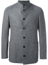 Massimo Piombo Mp Buttoned Jacket Grey
