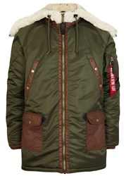 Alpha Industries Olive Shell Contrast Parka