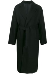 Andrea Ya'aqov Oversized Belted Coat Black