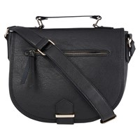 Oasis Large Saddle Bag Black