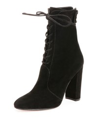 Gianvito Rossi Suede Lace Up Ankle Boot Beige