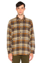 Filson Vintage Flannel Work Shirt Brown