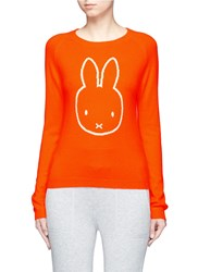 Chinti And Parker X Miffy 'Miffy Face' Cashmere Sweater Orange