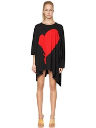 Vivienne Westwood Draped Heart Print Cotton Jersey T Shirt