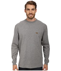 Pendleton L S Deschutes Tee Grey Heather Men's Long Sleeve Pullover Gray