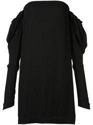 Vera Wang Off The Shoulder Shift Dress Black