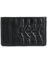 Alexander Mcqueen Embossed Cardholder Leather Black