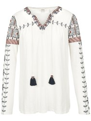 Fat Face Sorrel Embroidered Top Ivory