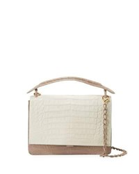 Nancy Gonzalez Large Divino Crocodile Satchel Bag Multi