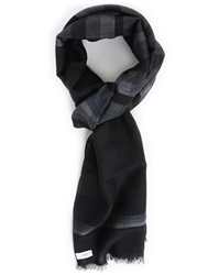Billtornade Navy And Checked Franck Scarf