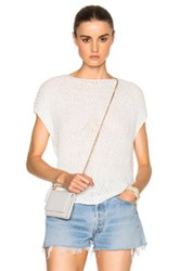 Atm Anthony Thomas Melillo Diagonal Stitch Sweater In White