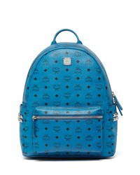 Mcm Stark Side Stud Medium Backpack Munich Blue