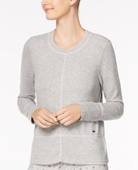 Nautica Dolman Sleeve Pajama Top Grey Heather