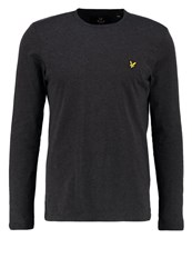 Lyle And Scott Long Sleeved Top Charcoal Marl Anthracite