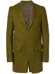 Rick Owens Double Breasted Coat Green