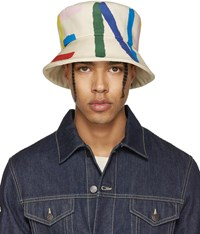 Fendi Off White Logo Bucket Hat