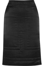Etoile Isabel Marant Lashay Quilted Cotton And Silk Blend Skirt Black