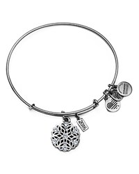 Alex And Ani Snowflake Expandable Wire Bangle Silver