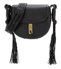 Altuzarra Ghianda Bullrope Saddle Leather Shoulder Bag Black