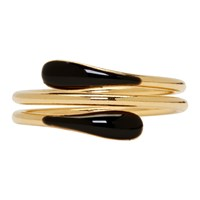 Isabel Marant Gold And Black Resin Ring