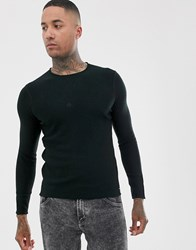Replay Lightweight Wool Mix Jumper In Black