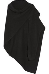 Christophe Lemaire Asymmetric Yak And Wool Blend Scarf Black