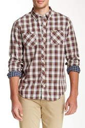 Timberland Warner River Plaid Double Layer Long Sleeve Slim Fit Shirt Beige
