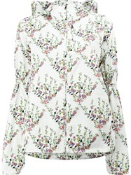 Giambattista Valli Floral Print Hooded Jacket White