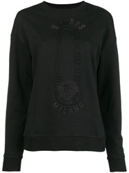 Versus Pin Printed Sweatshirt Black