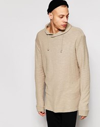 Pull And Bear Sweatshirt With Funnel Neck In Camel Camel