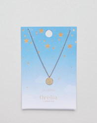 Orelia Scorpio Constellation Disc Pendant Gold