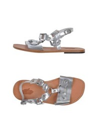 Local Apparel Sandals Silver