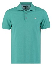 Banana Republic Polo Shirt Turquoise Heather Mottled Turquoise