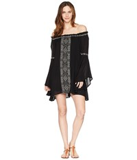 Rock And Roll Cowgirl Bell Sleeve Dress D4 5801 Black