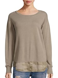 Current Elliott Detention Cotton Camo Layered Sweatshirt