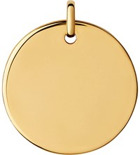 Links Of London Narrative 18Ct Yellow Gold Large Round Pendant