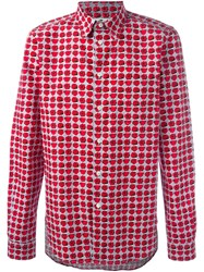 Paul Smith Ps By 'Mini Rose' Print Shirt Red