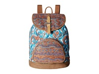 Toms Departure Ikat Mix Backpack Denim Backpack Bags Blue