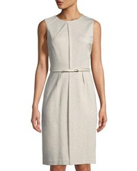 Tahari By Arthur S. Levine Dhani Belted A Line Dress Khaki