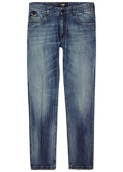 Fendi Dark Blue Slim Leg Jeans Denim