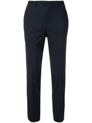 Red Valentino Tapered Tailored Trousers Blue