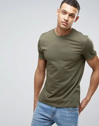 Yourturn T Shirt With Rolled Sleeve Green