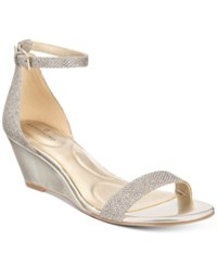 Bandolino Omira Wedge Sandals Women's Shoes Gold Glamour