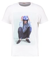 Lee Photo Tee Regular Fit Print Tshirt Cloud Dancer White