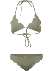 Marysia 'Broadway Triangle Top And Brief Bottom' Bikini Green
