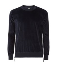 Paul Smith Velvet Side Zip Sweater Navy