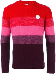 Kenzo Striped Jumper Red