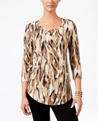 Jm Collection Printed T Shirt Only At Macy's Black Cheetah