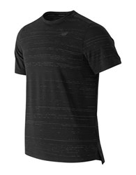 New Balance Max Speed Short Sleeve Top Black